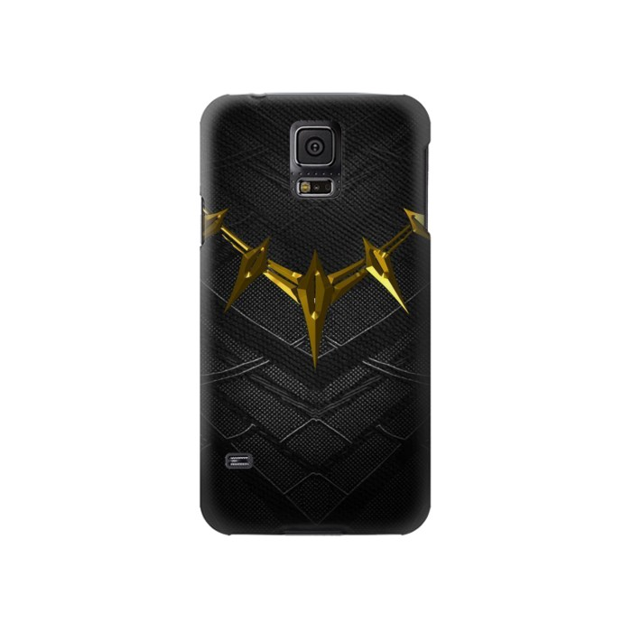 Printed Black Panther Inspired Costume Gold Necklace Samsung Galaxy S5 Case