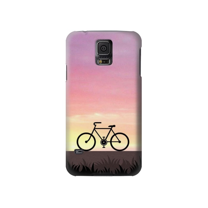 Printed Bicycle Sunset Samsung Galaxy S5 Case