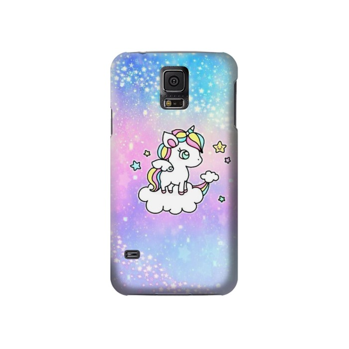 Printed Cute Unicorn Cartoon Samsung Galaxy S5 Case