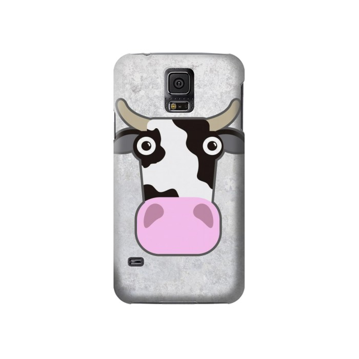 Printed Cow Cartoon Samsung Galaxy S5 Case