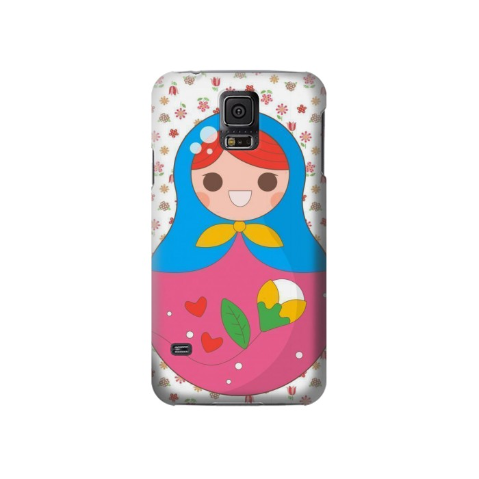Printed Russian Doll Matryoshka Samsung Galaxy S5 Case