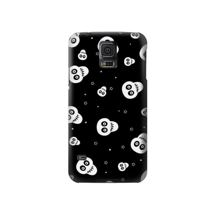 Printed Skull Pattern Samsung Galaxy S5 Case