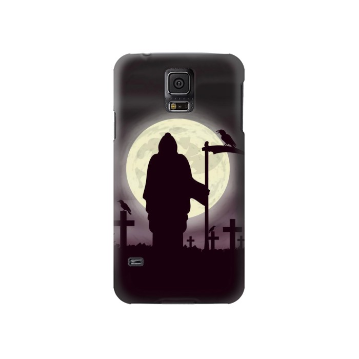 Printed Night Moon Cemetery Samsung Galaxy S5 Case