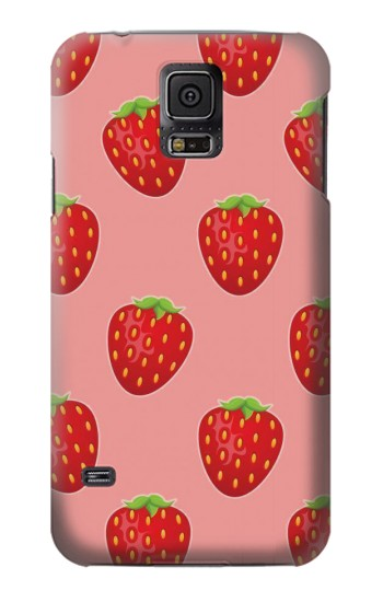 Printed Strawberry Fruit Pattern Samsung Galaxy S5 Case