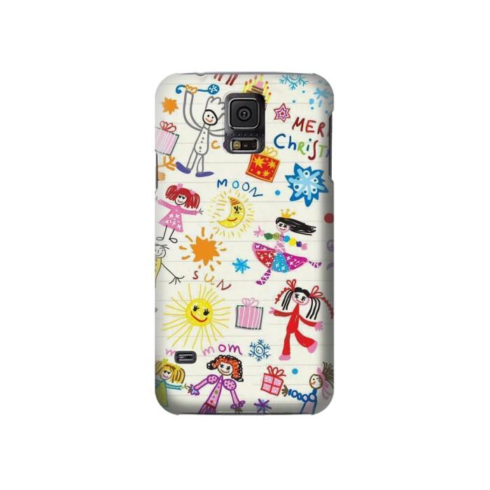 Printed Kids Drawing Samsung Galaxy S5 Case