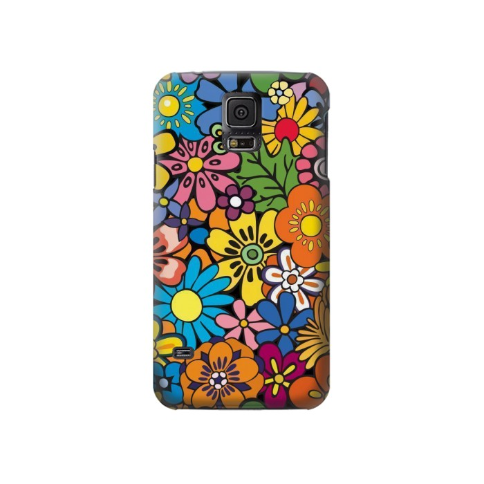 Printed Colorful Flowers Pattern Samsung Galaxy S5 Case