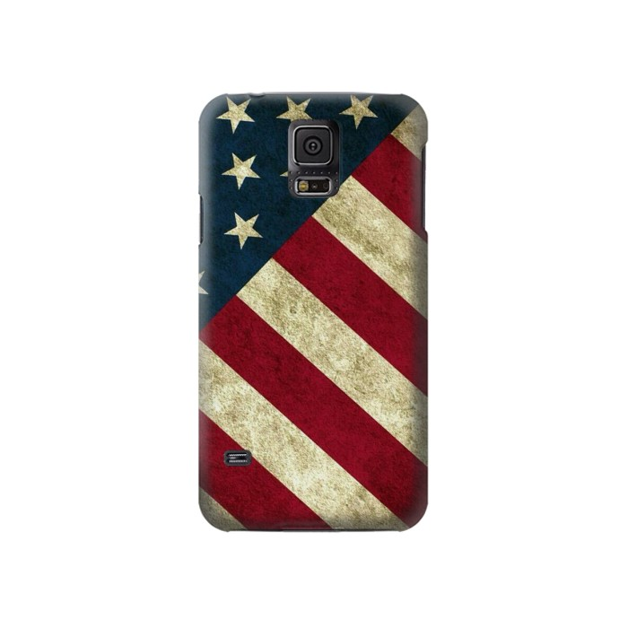 Printed US National Flag Samsung Galaxy S5 Case