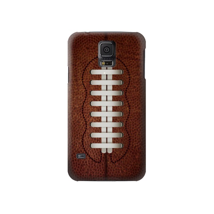 Printed Leather Vintage Football Samsung Galaxy S5 Case