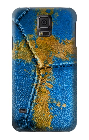 Printed Sweden Flag Vintage Football 2018 Samsung Galaxy S5 Case