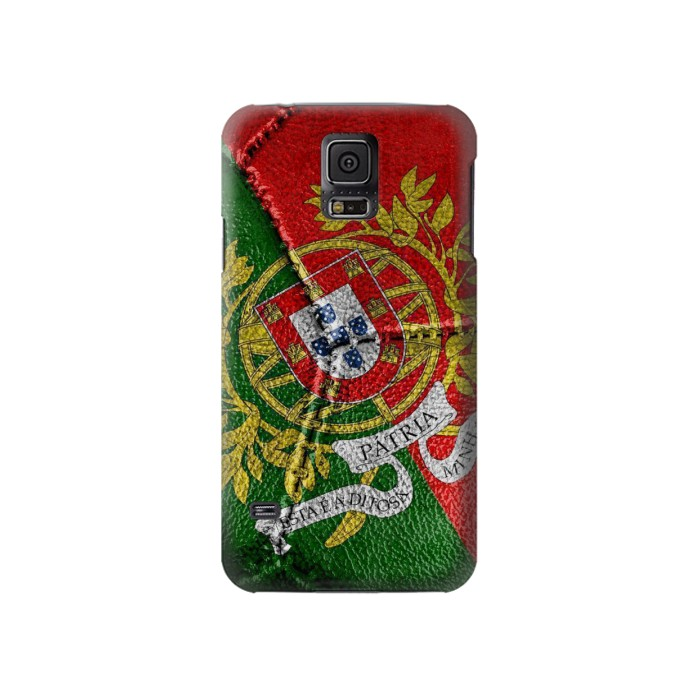 Printed Portugal Flag Vintage Football 2018 Samsung Galaxy S5 Case