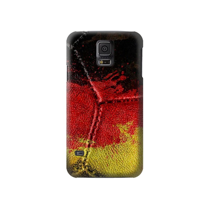 Printed Germany Flag Vintage Football 2018 Samsung Galaxy S5 Case
