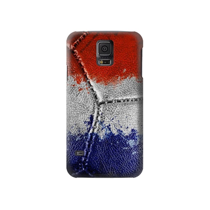 Printed France Flag Vintage Football 2018 Samsung Galaxy S5 Case