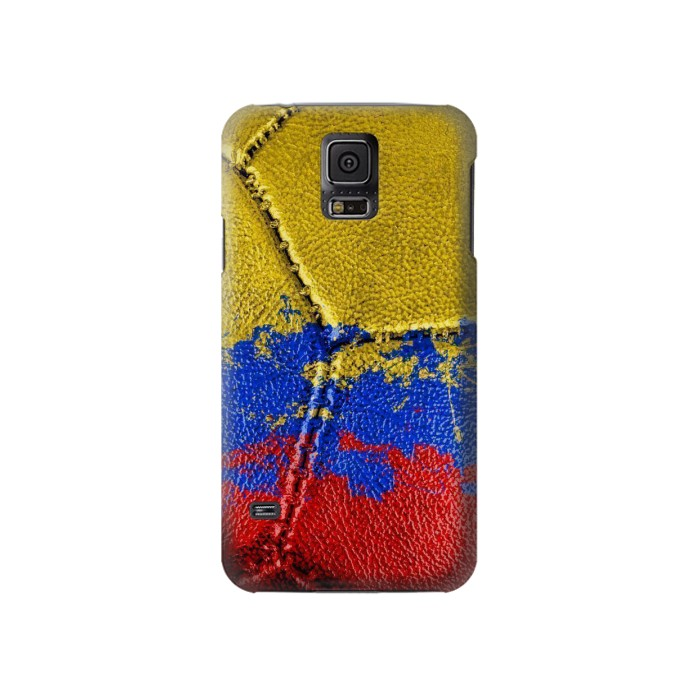 Printed Colombia Flag Vintage Football 2018 Samsung Galaxy S5 Case
