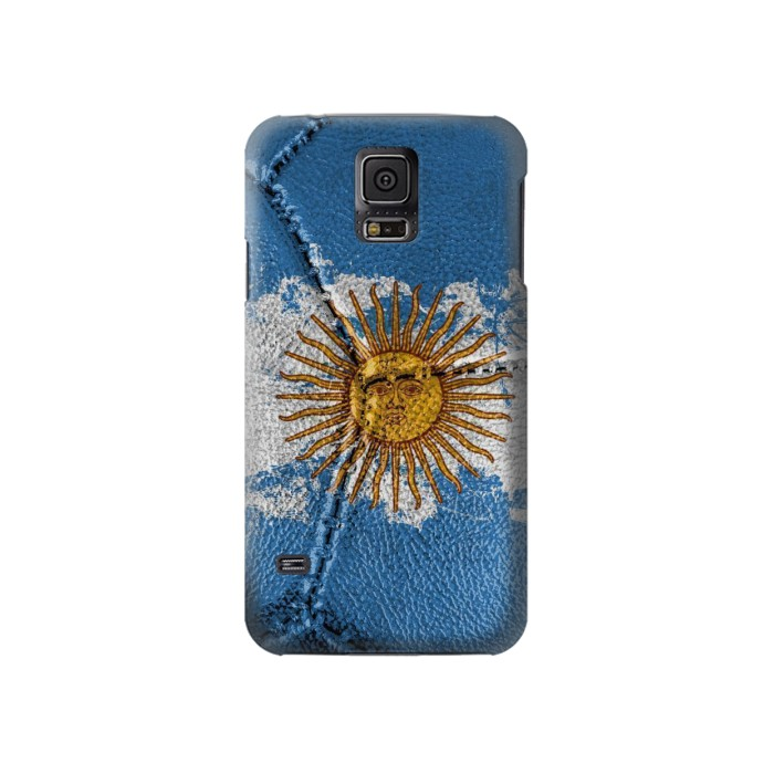 Printed Argentina Flag Vintage Football 2018 Samsung Galaxy S5 Case
