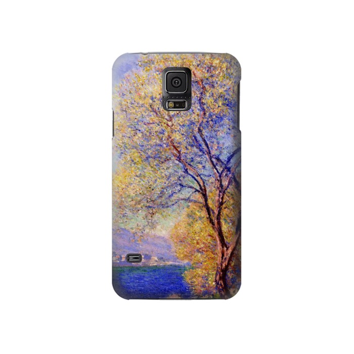 Printed Claude Monet Antibes Seen from the Salis Gardens Samsung Galaxy S5 Case