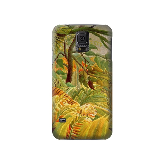 Printed Henri Rousseau Tiger in a Tropical Storm Samsung Galaxy S5 Case