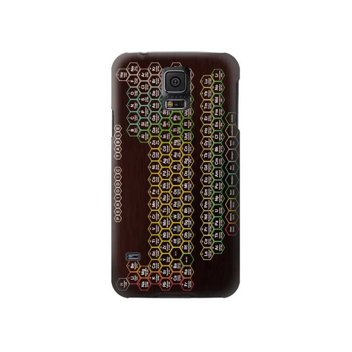 Printed Neon Honeycomb Periodic Table Samsung Galaxy S5 Case