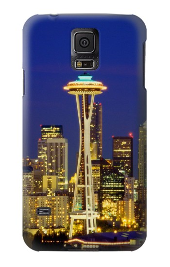 Printed Space Needle Seattle Skyline Samsung Galaxy S5 Case