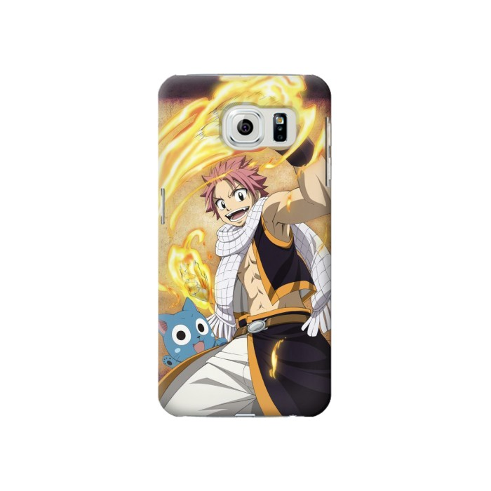 Printed Fairy Tail Natsu Happy Samsung Galaxy S6 Case