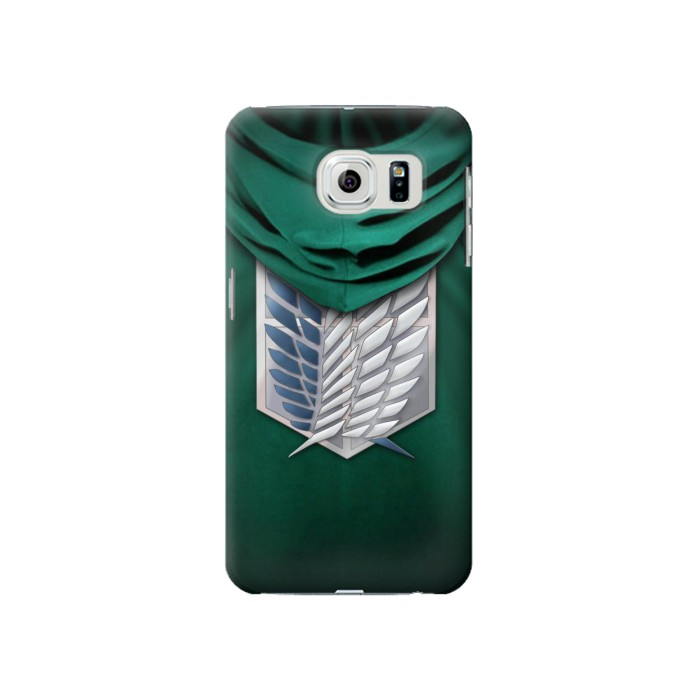 Printed Attack on Titan Scouting Legion Rivaille Green Cloak Samsung Galaxy S6 Case