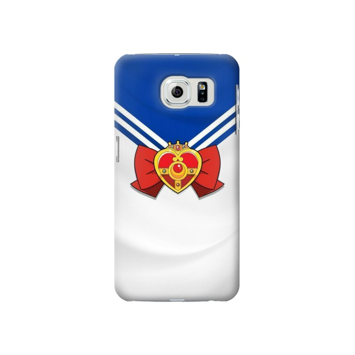Printed Sailor Moon Brooch and Bow Samsung Galaxy S6 Case