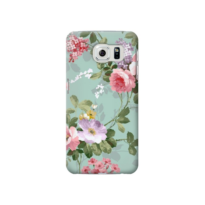Samsung Galaxy S6 Flower Floral Art Painting Case Cover