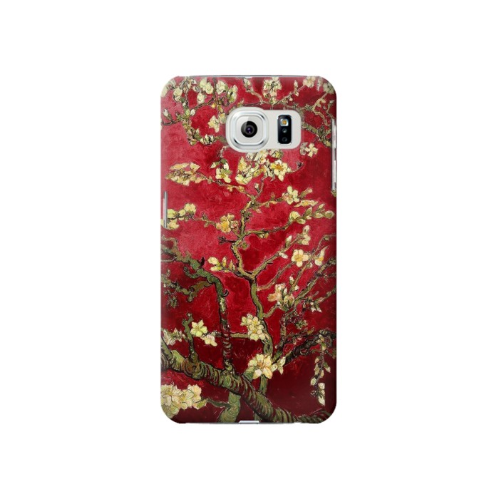 Samsung Galaxy S6 Red Blossoming Almond Tree Van Gogh Case Cover