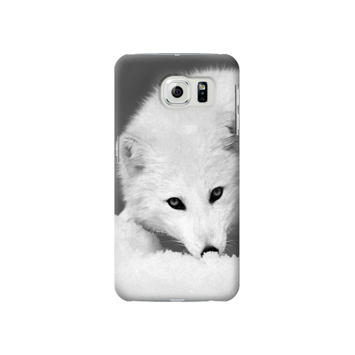 Printed White Arctic Fox Samsung Galaxy S6 Case