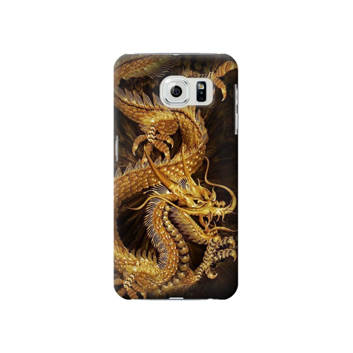 Samsung Galaxy S6 Chinese Gold Dragon Printed Case Cover