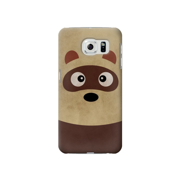 Printed Cute Cartoon Raccoon Samsung Galaxy S6 Case