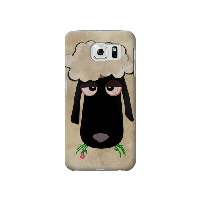 Printed Cute Cartoon Unsleep Black Sheep Samsung Galaxy S6 Case