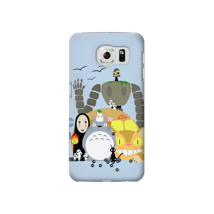 Printed Totoro Cat Bus Laputa Noface and Friends Samsung Galaxy S6 Case