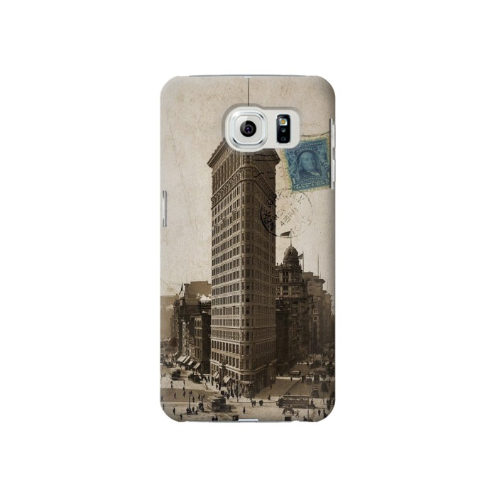 Printed New York 1903 Flatiron Building Postcard Samsung Galaxy S6 Case