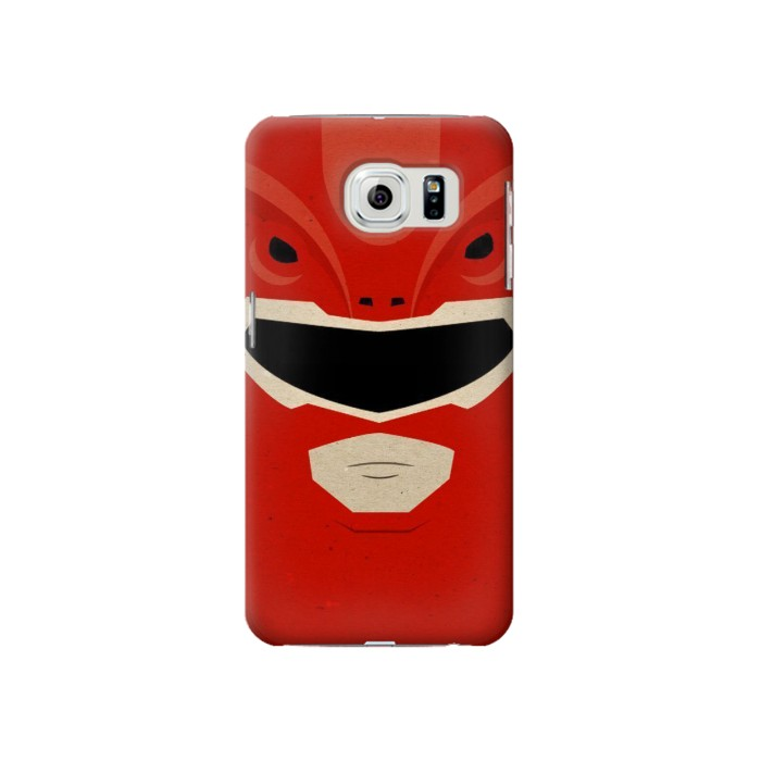 Printed Power Ranger Red Minimalist Samsung Galaxy S6 Case