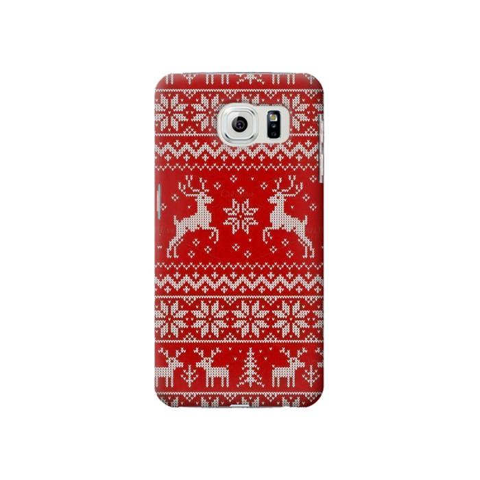 Printed Christmas Reindeer Knitted Pattern Samsung Galaxy S6 Case