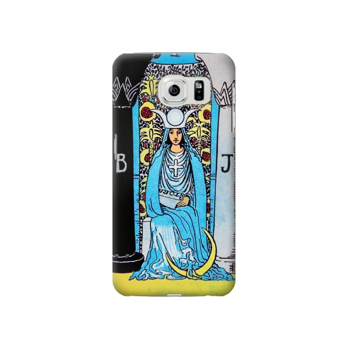 Printed The High Priestess Vintage Tarot Card Samsung Galaxy S6 Case