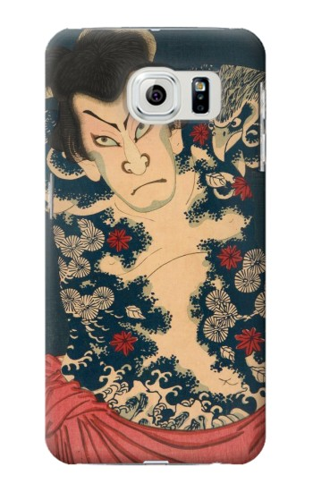 Printed Toyohara Kunichika The Aabuki Actor Samsung Galaxy S6 Case