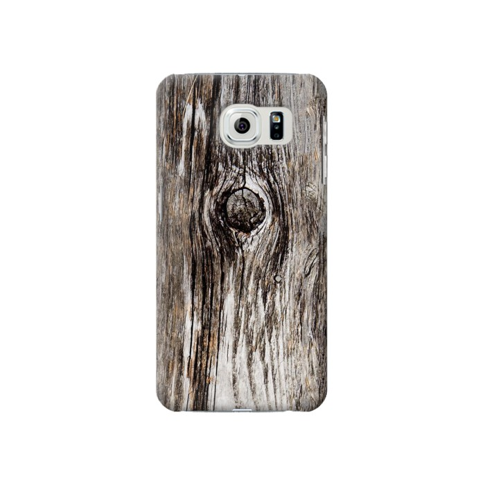 Printed Old Wood Bark Printed Samsung Galaxy S6 Case