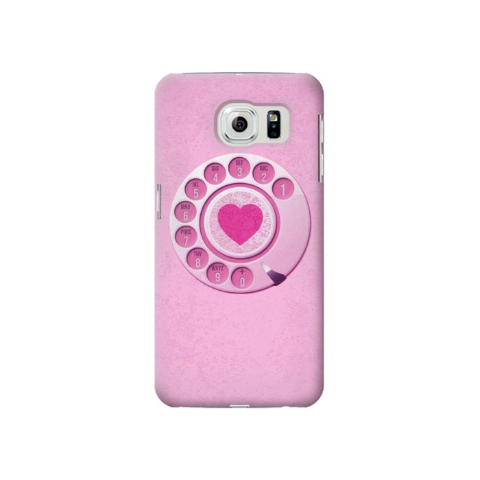 Printed Pink Retro Rotary Phone Samsung Galaxy S6 Case