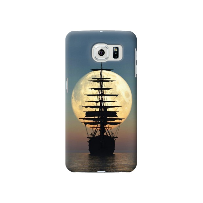 Printed Pirate Ship Moon Night Samsung Galaxy S6 Case