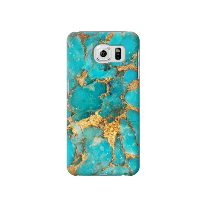 Printed Aqua Turquoise Stone Samsung Galaxy S6 Case