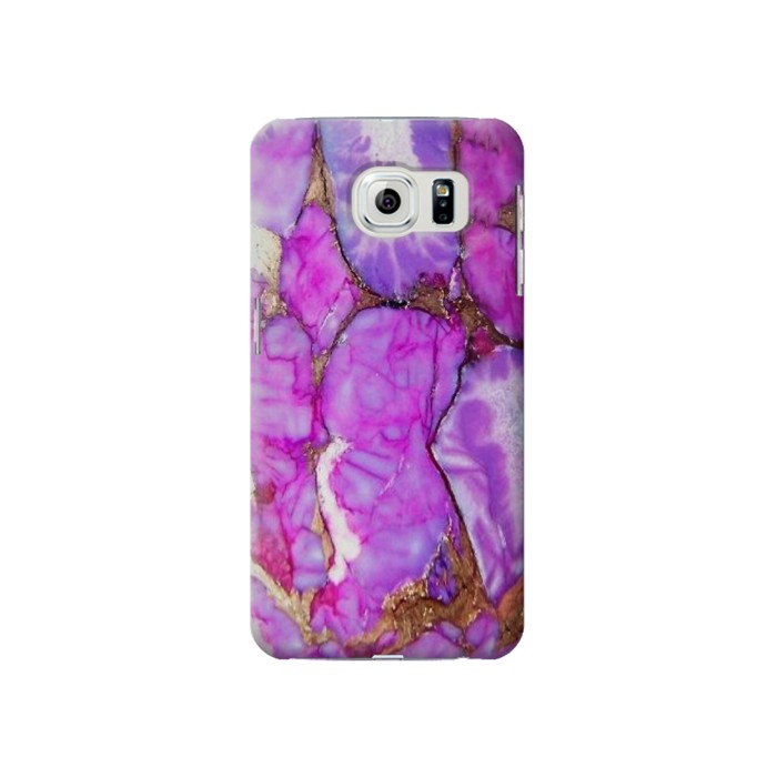 Printed Purple Turquoise Stone Samsung Galaxy S6 Case