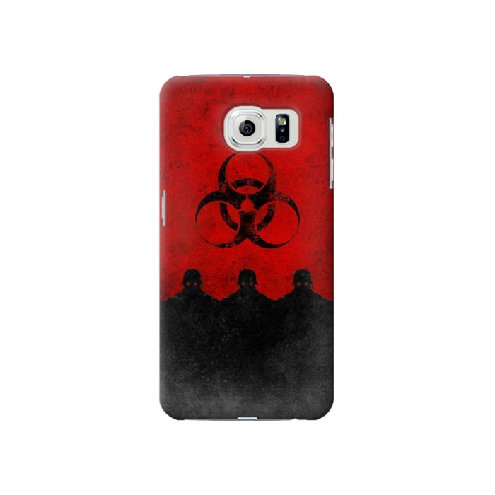 Printed Virus Red Alert Samsung Galaxy S6 Case