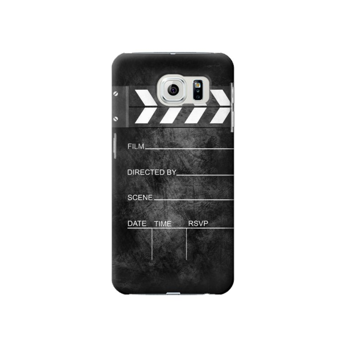 Printed Vintage Director Clapboard Samsung Galaxy S6 Case