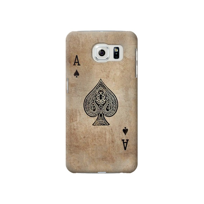 Printed Vintage Spades Ace Card Samsung Galaxy S6 Case
