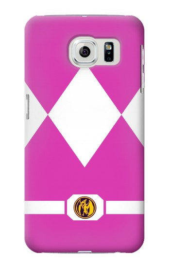 Printed Ladies Pink Mighty Morphin Power Ranger Minimalist Samsung Galaxy S6 Case
