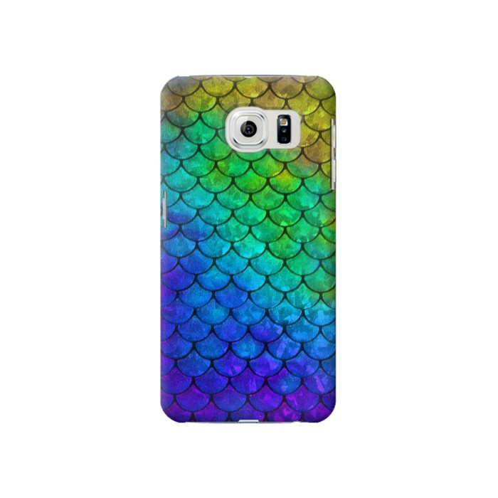 Printed Mermaid Fish Scale Samsung Galaxy S6 Case