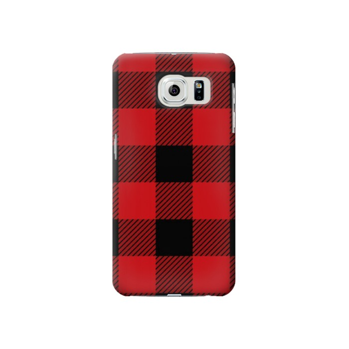 Printed Red Buffalo Check Pattern Samsung Galaxy S6 Case