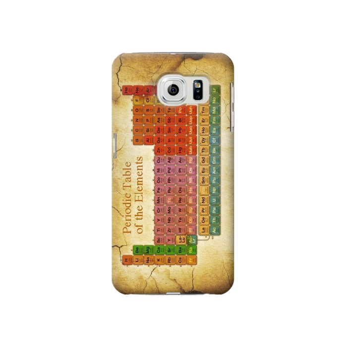 Printed Vintage Periodic Table of Elements Samsung Galaxy S6 Case