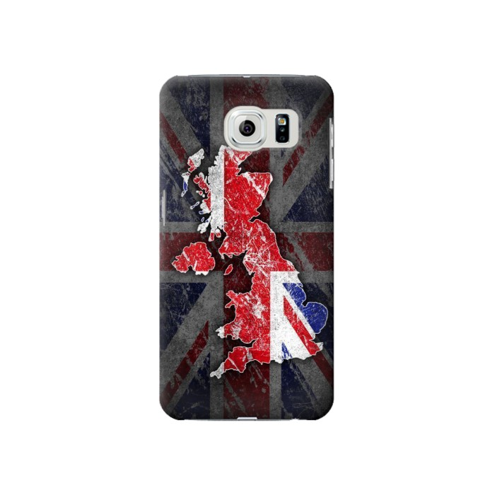 Printed UK British Flag Map Samsung Galaxy S6 Case